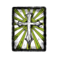 Green White Grunge Cross by ca-booth