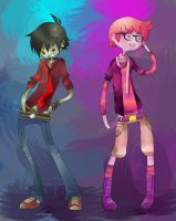 AT: Marshall Lee and Gumball by faycoon