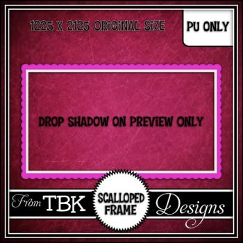 Scalloped Frame by tbkdesigns