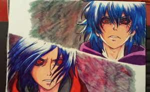 Touka and Ayato by greataiden1