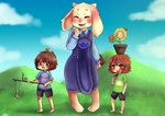 Teacher Toriel and the Kids by cuteVeila