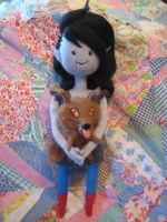 Needle Felted Marceline and Wolf Pup in Go With Me by CatsFeltLings