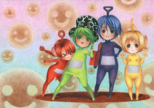 Teletubbies: Anime Style by PirateRu-Ru