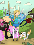 Adventure time with Fionna and Cake by Flaframur