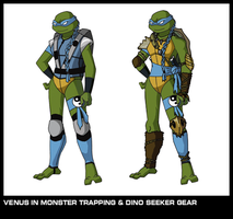 Venus in Monster Trapping and Dino Seeker Gear by AmbarBaez