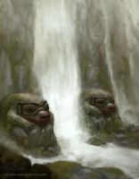 Frog Waterfalls by CavalierediSpade