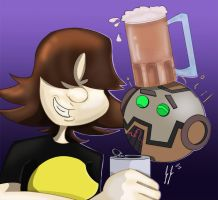 Partying with Co-Host 3000 by jEROMEaNIMATIONS