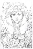 Poison Ivy- heart pencils by aethibert