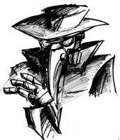 Noir Plague-Man by The-Alchemists-Muse