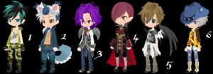 Magical Boys Set Set 13 CLOSED by AdoptableSoulxHeart