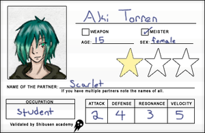Student ID - Aki Torren by Dragoniangirl