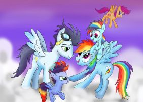 My SoarinDash family by raggyrabbit94