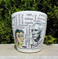 Flower pot Picasso 1 by naraosart