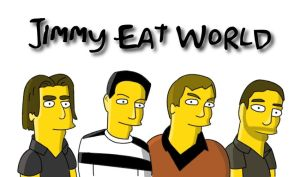 Jimmy Eat World as Simpsons by Slapdown