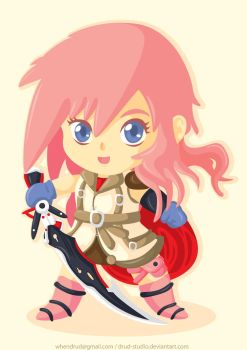 Lightning FF XIII Chibi by drud-studio