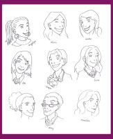 Minor HP Characters by Tez-zah