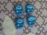 Bemo badges and magnets from adventure time by chaobreeder16