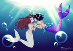 Mermaid Romance by Myen-Nyan