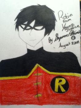 Robin From Young Justice by VicMignognaLover