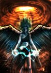 Angel advent of the judgment by Gold-copper