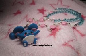 Marill necklace by gothic-yuna