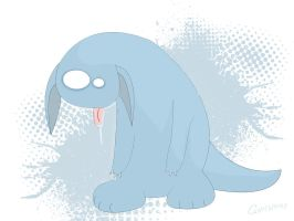 Drowsy monster by Gatewhale