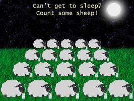 Counting Sheep Night Time by sackrilige