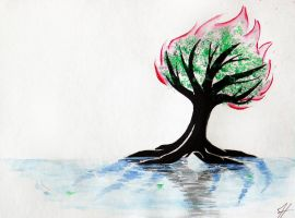 Living Water, Refining Fire, Thriving Tree by Vdeogamer