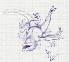 Balaur scribble by Paperiapina