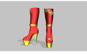 MMD super high heel boots by amiamy111
