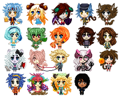 Pixel Icon Commission Examples by Norieh