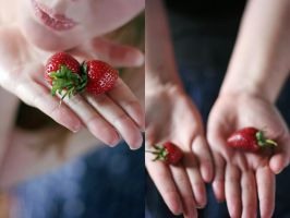 Homegrown Strawberries by sayra
