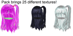 MMD Cute Hair Texture Pack Download by dianita98