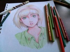 playing with color pencils by xchokoxotakux