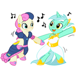 Lyra and BonBon Dance by Krekka01