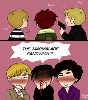 THE MARMALADE SANDWICH!~Guixon, Kharthur, Johnlock by neko-narusasu