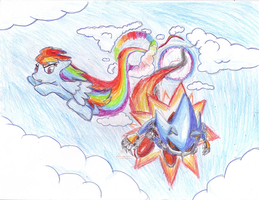 Rainbow Dash vs Metal Sonic by SRB2-Blade