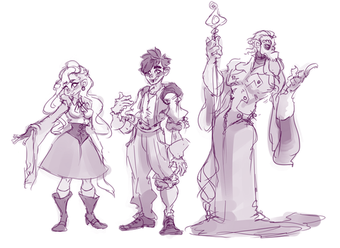 Witchy/Wizzy (Character line up) by ButteryTea