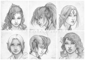 Portrait Commissions - fourth batch by SerenaVerdeArt