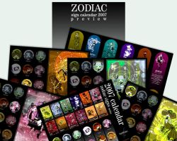 . zodiac calendar . released . by karincoma