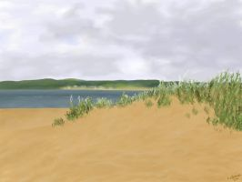 Beachscape Speedpaint: Exmouth by clarearies13