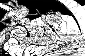 TMNT Assemble Inking by Gamewiz