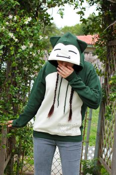 Snorlax Inspired Pullover Hoodie by CosplayCousins