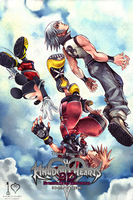 Kingdom Hearts 3D iPhone bg 2 by gameover89