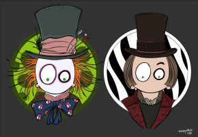 MadSGothje and Willy Wonka by MsGothje