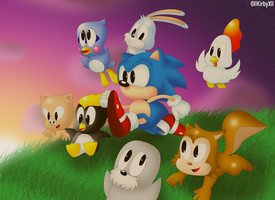 Sonic's 'REAL' Friends by llKirbyXll
