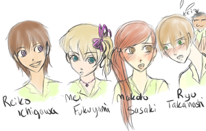 Main charactersssss by FucshiaWillow