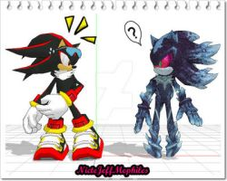 Shadow and Mephiles by NicteJeffMephiles