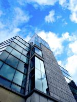 Dublin Bank with Reflection by ronankelly