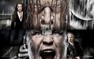 Triple H vs. Brock Lesnar SummerSlam wallpaper by AlphaMoxley95
